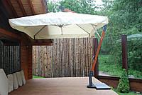 """Консольный зонт """"XL""""с куполом -3x4м (с деревянной стойкой)"""