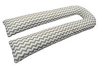 Подушка для беременных U образная с наволочкой Зигзаг  (PDV-U2)