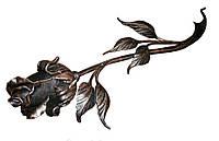 Кованая роза из металла (Черная)