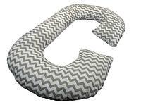 Подушка для беременных «J» образная с наволочкой Зигзаг (PDV-J2)