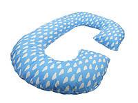 Подушка для беременных «J» образная с наволочкой Облака (PDV-J4)