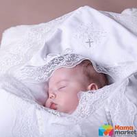Крыжма для крещения Mimino Изабелла, цвет белый