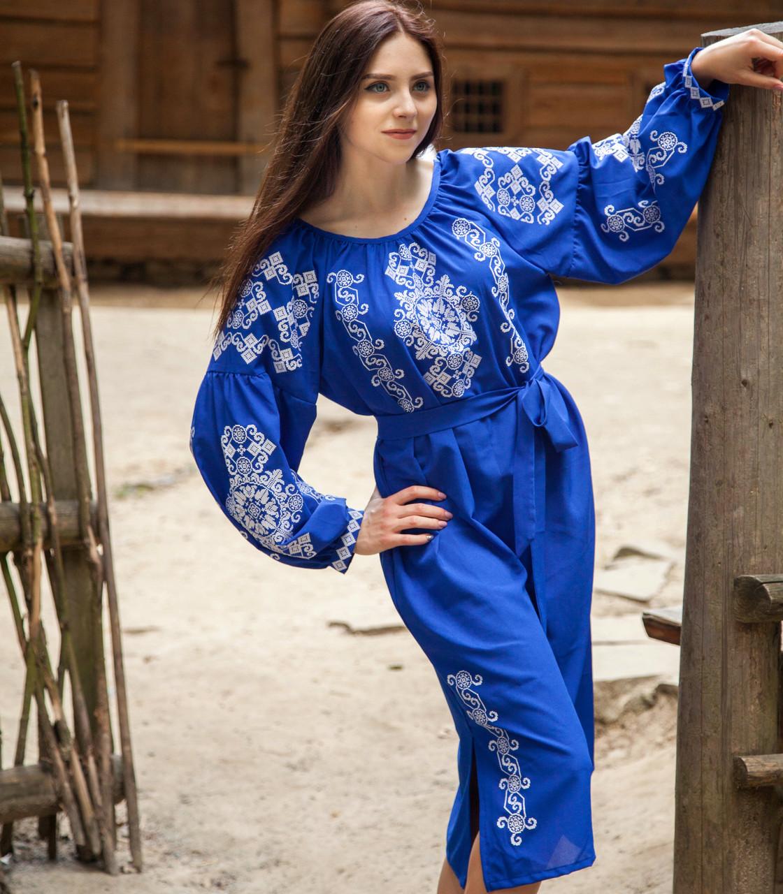 Вишите плаття Бохо (машинна вишивка 22f24880d7080