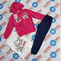 Дитячі спортивні костюми для дівчаток трійка F&D оптом, фото 1