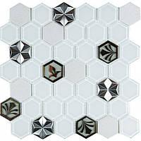 Мозаика мрамор стекло Vivacer SB10