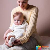 Костюм для крещения  с коротким рукавом Mimino Елисей, цвет молочный