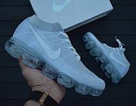 "Кроссовки Nike VaporMax Flyknit ""Pure Platinum"". Топ качество! (аир зум, эир зум)"
