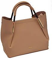 Женская сумка персикового цвета B.Elit с отстёгивающейся косметичкой