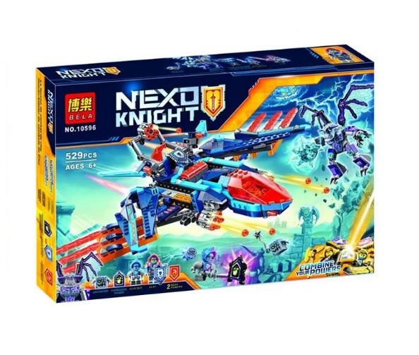 Конструктор Bela 10596 Нексо Найтс Самолёт-истребитель «Сокол» Клэя (Аналог Lego Nexo Knights 70351)