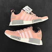 Кроссовки Adidas NMD Pink Grey. Живое фото! Топ качество!
