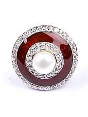 Кільце срібне з ювелірної емаллю