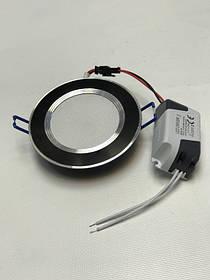 Светодиодная панель SEAN SL 2006 5W 4000K кругл. черный  Код.58312