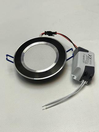 Светодиодная панель SEAN SL 2006 5W 4000K кругл. черный  Код.58312, фото 2