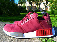 Кроссовки Adidas nmd bordo. Живое фото! Топ качество! (Реплика ААА+), фото 1