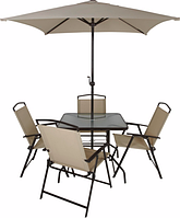 Набор садовой мебели George Home Miami 6 Piece Patio Set - Brown&Linen