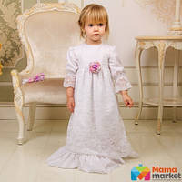 Рубашка крестильная для девочки Mimino Лилиана, цвет белый
