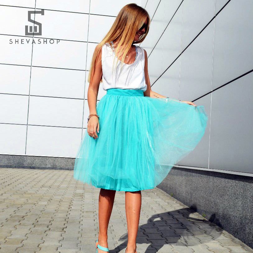 Пышная юбка-пачка ANN Breeze бирюзовая, фото 1
