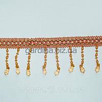 Бахрома оранжевая со стеклян. подвесками