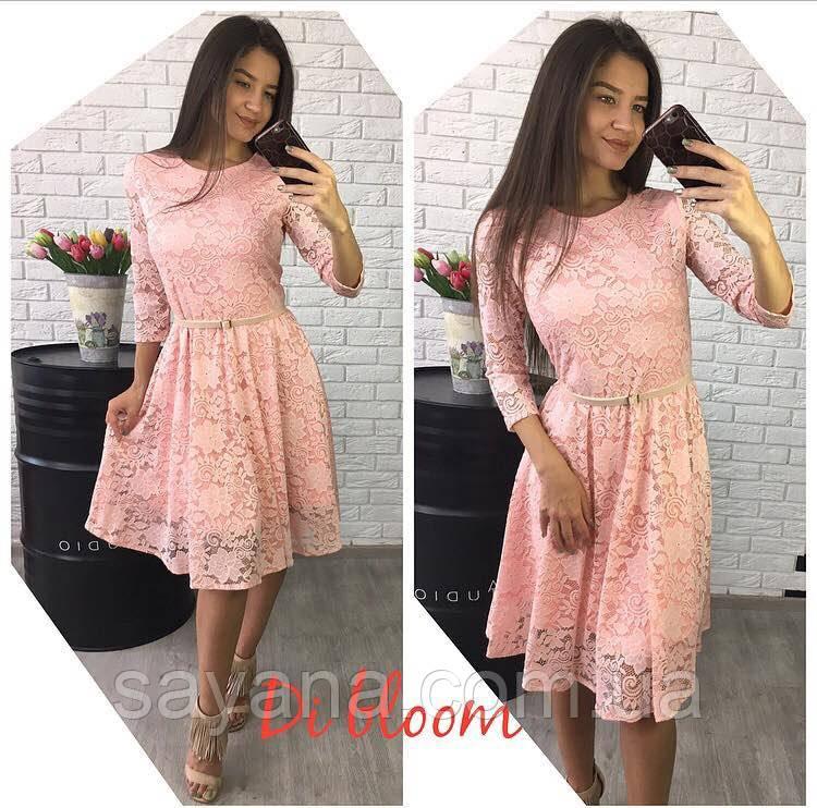 Женское платье из гипюра в расцветках. Ю-104-0617