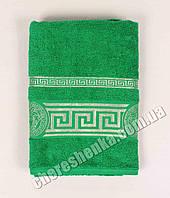 Махровое полотенце банное Ver (140*70) Зеленый