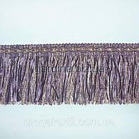 Бахрома фиолетовый с бежевой атлас. лентой (в.825г)