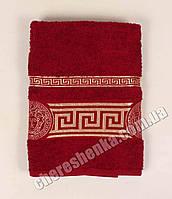 Махровое полотенце банное Ver (140*70) Бордовый