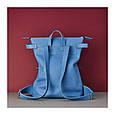 Кожаный рюкзак-сумка Voyager синий, фото 6