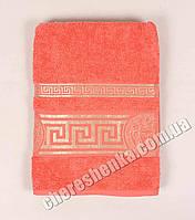 Махровое полотенце банное Ver (140*70) Оранжевый