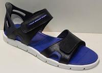 Стильные сандалии синие спорт