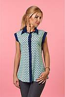 Стильная, женская блузка, без рукавов, из софта, разные цвета