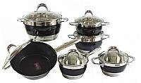 Набор комплект посуды кастрюль HOFFNER 9969 12 элементов