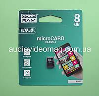 Карта памяти micro SD 8 Gb, 4 класс