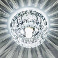 Точечный светильник Feron C1010 JCD9 прозрачный с  led  подсветкой  2.5W (4000K)