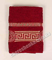 Махровое полотенце для лица Ver (90*50) Бордовый