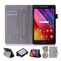 Чехол книжка ISIN Premium PU Leather Case With Hand Strap And Card Slots для Asus ZenPad 8 Z380C Z380KL 8.0 (Ч