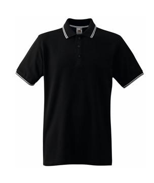 Футболка мужская Поло Premium Tipped Polo, L (48-50), Чёрный/Белый