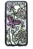 Чехол-накладка Print + Border Silicon для Meizu M5S Black/Butterfly Color