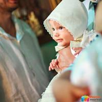 Шапка для крещения Mimino Сем Цен, цвет молочный