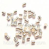 Стопперы 2*2 мм светлое серебро (примерно 100 г)