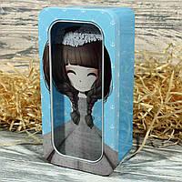 Жестяная подарочная коробка-пенал