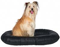 """Лежак для собак """"Samoa Sky"""" 120х95 см, черный (искусственная кожа)"""