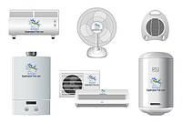 Климатическое оборудование (кондиционеры, вентилятор, увлажнитель воздуха, обогреватель)