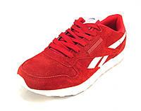 Кроссовки Reebok замшевые красные женские (р.36,37,38,39,40)