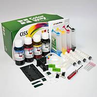 СНПЧ ColorWay Canon MG2140/2240/3140/3240/4140/4240, MX374/394/434/435/454/514/524, 4х100 г чернил (MG3140CN-4.1NC)