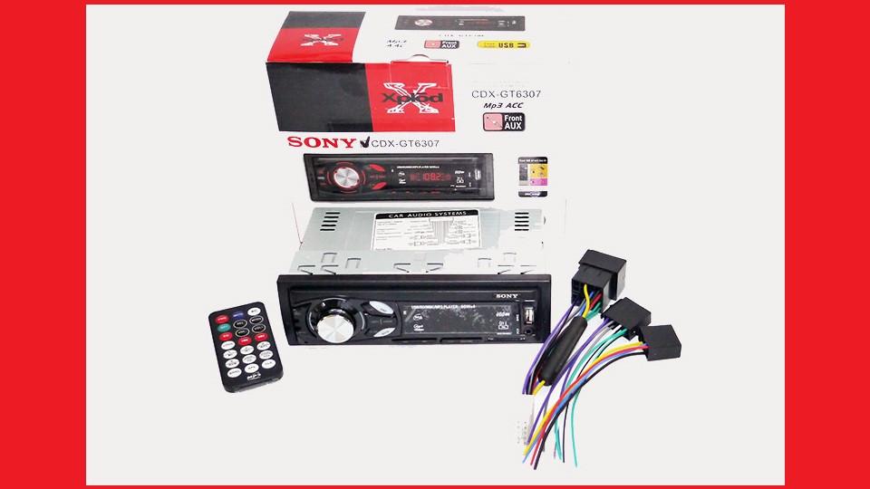 Автомагнитола Sony CDX-GT6307 USB+SD+FM+AUX+ пульт (4x50W)