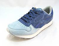 Кроссовки Reebok замшевые голубые унисекс (р.36,37,38,39,40)