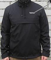 Куртка анорак Timberland (ветровка) чёрная