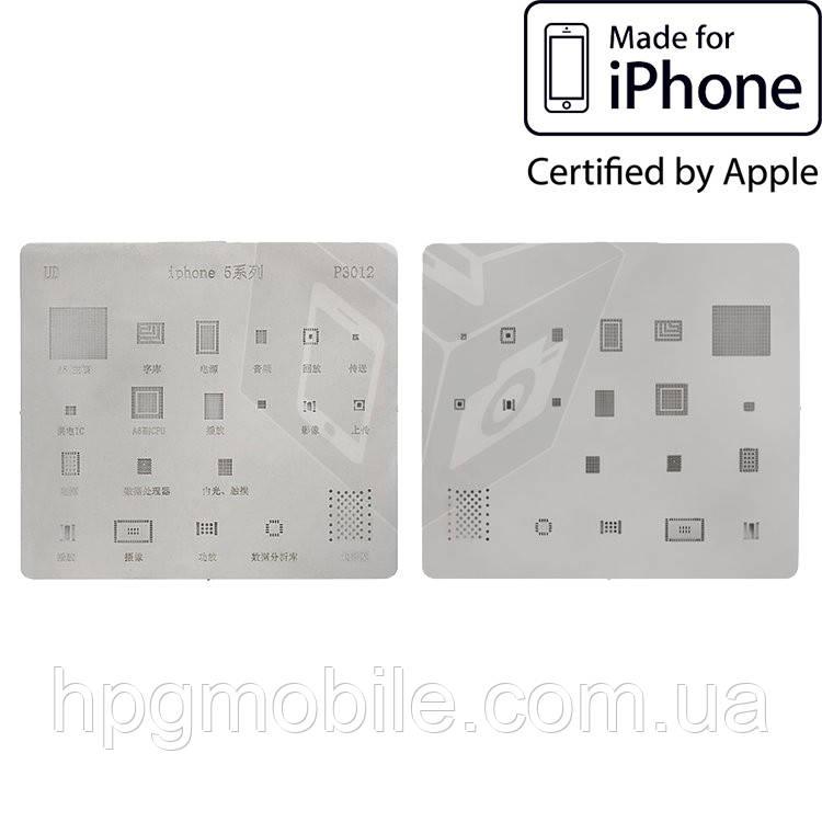 BGA-трафарет P3012 для Apple iPhone 5 (20 in 1) - HPG Mobile. Мобильные запчасти, аксессуары и другие товары по лучшим ценам в Харькове