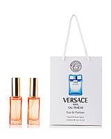 Парфюм 2 по 20 мл в подарочной  упаковке Versace Man Eau Fraiche Versace для мужчин