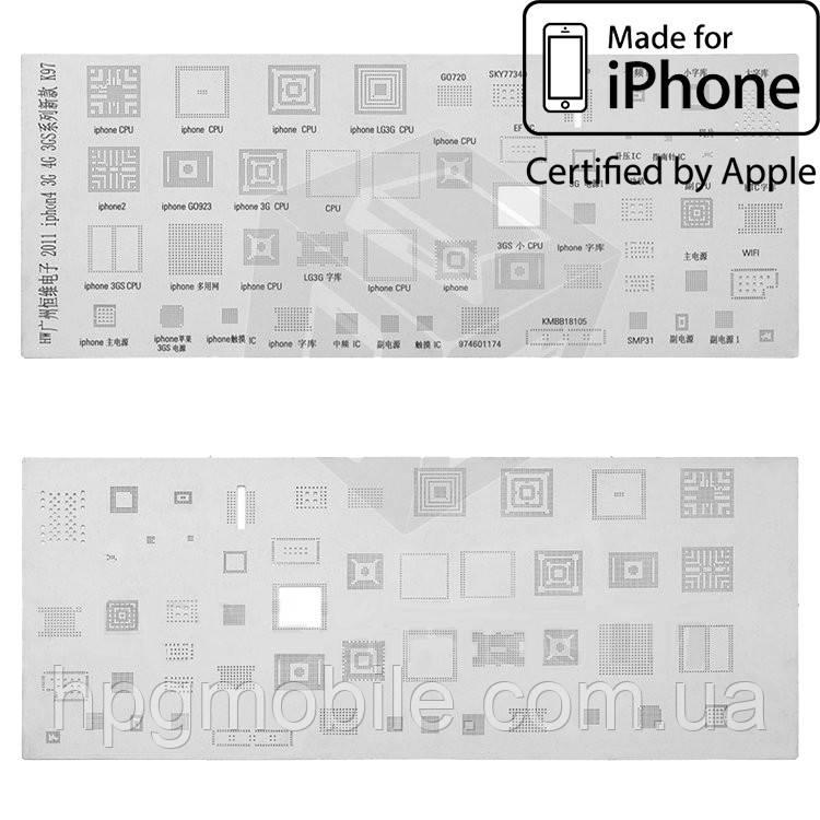 BGA-трафарет K97 для Apple iPhone 3GS (51 in 1) - HPG Mobile. Комплектующие, запчасти, аксессуары и другие товары по лучшим ценам в Харькове